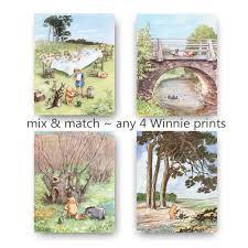 Winnie The Pooh Nursery Decor Ireland by Classic Winnie The Pooh Nursery Print Girls Decor Boys Room