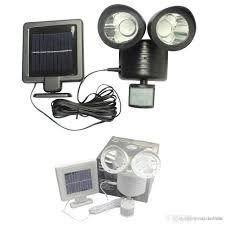 2018 outdoor solar led wall pack lights pir motion sensor security