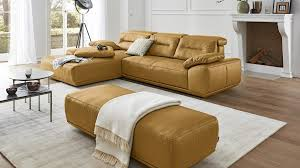 interliving sofa serie 4000 eckkombination kurkumafarbenes leder z83 52 schenkelmaß ca 209 x 310 cm