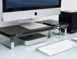 Monitor Stands For Desk by Satechi F3 Smart Monitor Stand Gadget Flow
