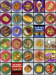 models cuisine poster display top view of 3d food models created by 3d