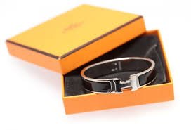 silver and enamel hermes clic clac h bracelet