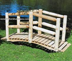 Contoured Comfort Cedar Log Bridge