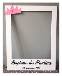 cadre photo bapteme personnalise cadre photobooth baptême ou naissance fille baptême