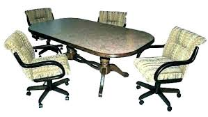 Dining Table With Caster Chairs Trixieroqueme