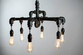 Home Lighting Hanging Ceiling Plumbing Pipe Light Fixture With Edison Bulb