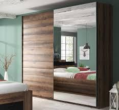 schwebetürenschrank beta schlafzimmerschrank mit spiegel 180cm monastery eiche schwarz