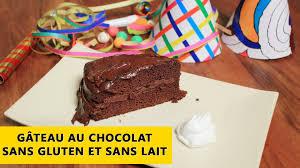 cuisine sans gluten et sans lait recette de gâteau au chocolat sans gluten et sans lait