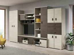 wohnwand gotha modern anbauwand mit lowboard wohnzimmer