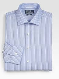 polo ralph lauren customfit striped regent dress shirt in blue for