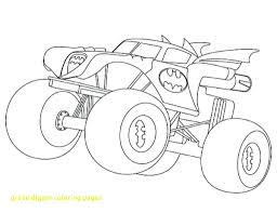 Monster Truck Grave Digger Coloring Pages Luxury Drawing At ...