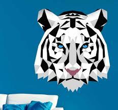 wandaufkleber wohnzimmer tiger abstrakt