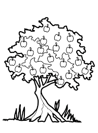 4 Gorgeous Apple Tree Coloring Page