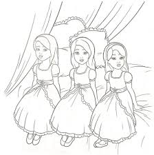 Elegant Barbie Coloring Pages