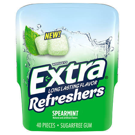 Extra Gum, Sugarfree, Spearmint - 40 gums