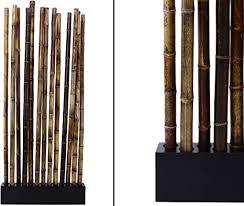 bambus raumteiler paris4 mit ca 90x12x205cm sockel und 13