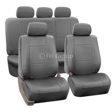 Chevrolet Cruze Floor Mats Uk by Gray Faux Leather Car Seat Cover Set Headrests Floor Mat Set Ebay