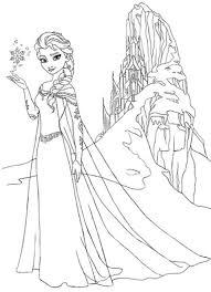 Elsa Snowflake Free Coloring Page
