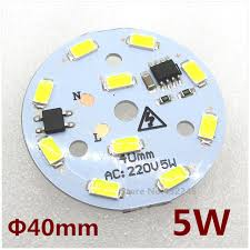 50 pieces 5w smd 5730 led bulb pcb with leds and ic driver size