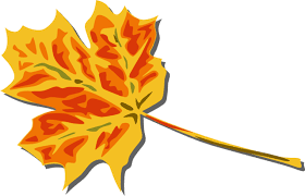 A yellow and red fall leaf Clip Art Fall Leaves