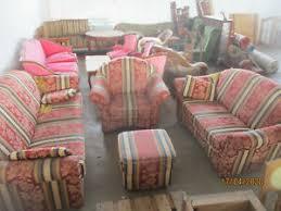 vintage komplett wohnzimmer 3er sofa 2er sofa hocker