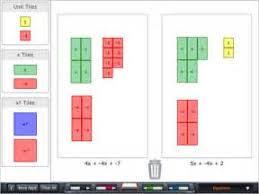 virtual algebra tiles for ipad algebra tiles on the app store on