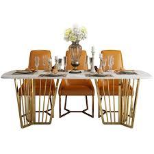 marmor design ess wohn zimmer tisch metall naturstein tische luxus klassischer