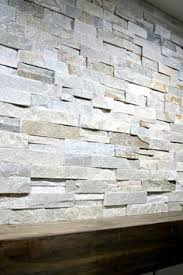 how to install stacked tile on a fireplace wall thrifty