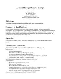 Template Assistant Manager Sample Resume Account Advertising