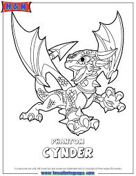 Skylanders Swap Force Undead Phantom Cynder Coloring Page
