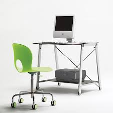 Tempered Glass Computer Desk by Agreeable Tempered Glass Computer Desk With White Stained Chrome