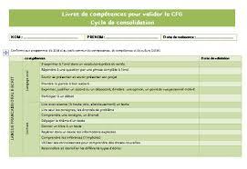 grille d 騅aluation atelier cuisine livret de compétences à valider en vue du cfg abcd