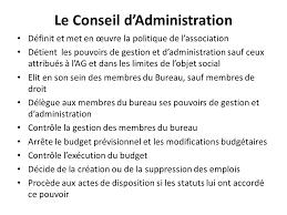 bureau conseil d administration l association loi 1901 les statuts ppt télécharger