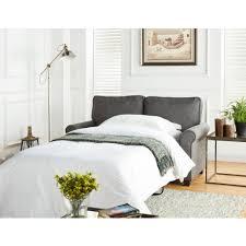Mainstays Sofa Sleeper Black Faux Leather by Mainstays Loveseat Sleeper With Memory Foam Mattress Grey