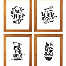 Printable Set Of Four Kitchen Art Wall Decor 8 X 10 Funny