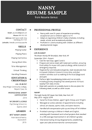 Nanny Resume Example & Writing Tips | Resume Genius