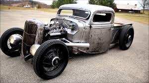 Cherry Looking Raw Metal 1935 Ford Truck Rat Rod