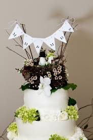 Rustic Bunting Wedding Cake Topper
