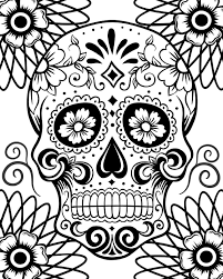 Day Of The Dead Coloring Pages For Adults 2
