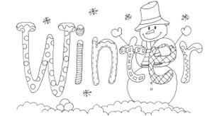 Winter Coloring Pages For Print Word