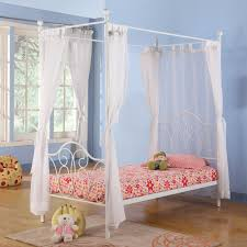 Curtains For Girls Room by Furniture White Canopy Wooden Bed Frame With Headboard On White