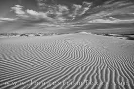 Sand Dunes Evening 1 Black And White