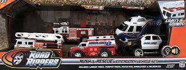 Amazon.com: Road Rippers RUSH & RESCUE EMERGENCY VEHICLES Set W ...
