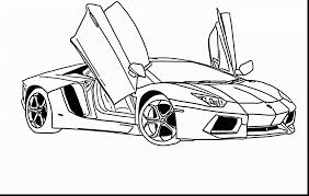 Fabulous Lamborghini Drawing Outline With Coloring Pages And Countach
