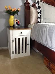 How To Build A End Table Dog Crate by Going To The Dogs Diy Dog Crate Nightstands Hometalk
