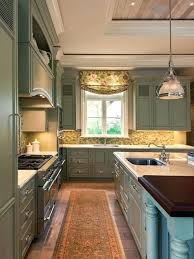 Sage Colored Kitchen Cabinets by Sage Green Kitchen Cabinets With Black Appliances What Color