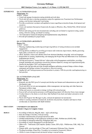QA Automation Resume Samples | Velvet Jobs