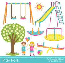 Setting clipart park playground Pencil and in color setting