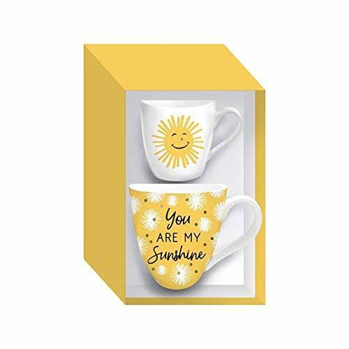 Mommy and Me Ceramic Cup Gift Set, 17 oz, You Are My Sunshine