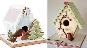 Gingerbread Birdhouse Cakes Christmas By Peggy Porschen Left Magical NZ Right